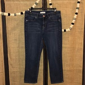 White House Black Market Crop Leg Jeans Medium